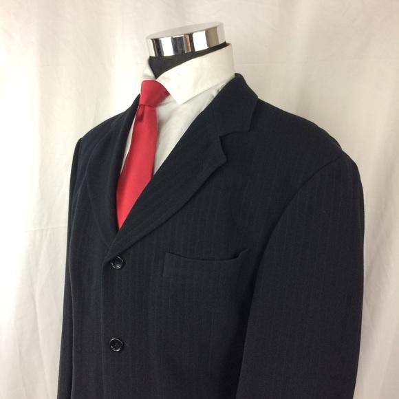 c445209282e Hugo Boss Suits & Blazers | Mens 44r Black Blazer Rayon Wool Blend ...